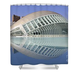 The Hemisferic In Valencia Spain Shower Curtain