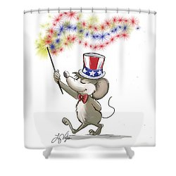 Moe's Happy 4th Of July Shower Curtain
