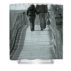 Moments With Dad  Shower Curtain by Karol Livote