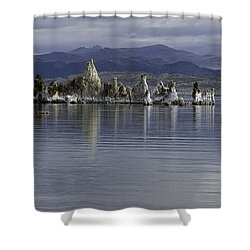 Shower Curtain featuring the photograph Mono Lake by Betty Depee