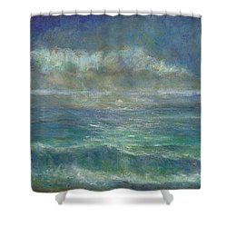 Moon Over Malibu Shower Curtain