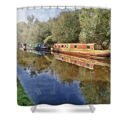 Moored Up Shower Curtain