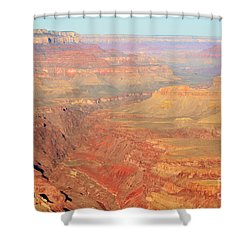 Morning Colors Of The Grand Canyon Inner Gorge Shower Curtain