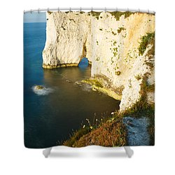 Morning Light At Old Harry Rocks Shower Curtain