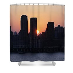 Shower Curtain featuring the photograph Morning On The Hudson by Lilliana Mendez