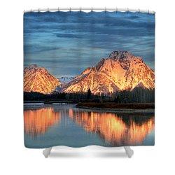 Mount Moran Shower Curtain by Steve Stuller
