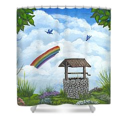 My Wishing Place Shower Curtain by Sheri Keith