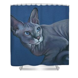 Shower Curtain featuring the painting Nefertiti by Cynthia House