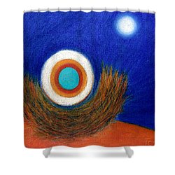 Nesting Moon Shower Curtain