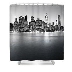New York City Skyline Shower Curtain by Vivienne Gucwa