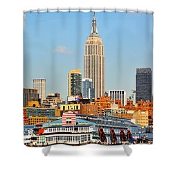 New York City Skyline With Empire State Shower Curtain