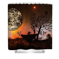 Night Of The Scarecrow  Shower Curtain