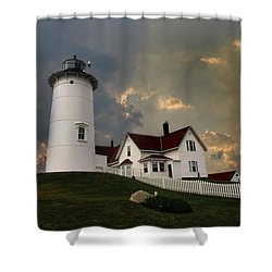 Nobska Lighthouse Color  Shower Curtain