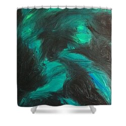 Shower Curtain featuring the painting Northern Light by Jacqueline McReynolds