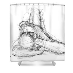 Nude Male Sketches 2 Shower Curtain