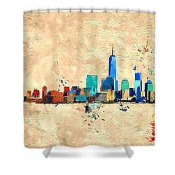 Nyc Grunge Shower Curtain
