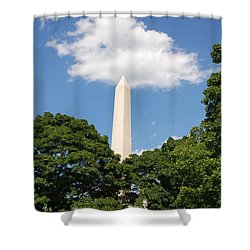Obelisk Rises Into The Clouds Shower Curtain
