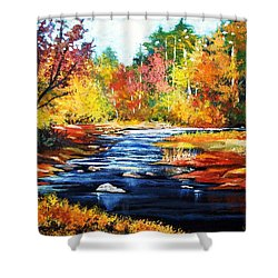 October Bliss Shower Curtain by Al Brown
