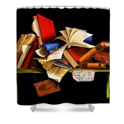 Old Books For Sale Shower Curtain