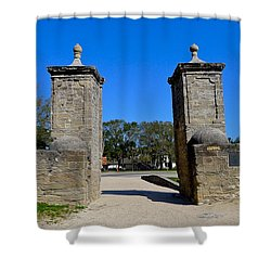 Old City Gates Of St. Augustine Shower Curtain
