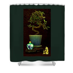 Old Man And The Tree Shower Curtain