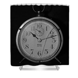 Old Westclock Shower Curtain by Rob Hans