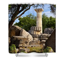 Olympia Ruins Shower Curtain by Brian Jannsen