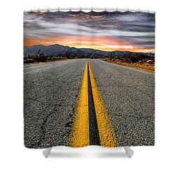 On Our Way  Shower Curtain by Ryan Weddle