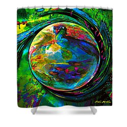 Orb Of Pavone Shower Curtain