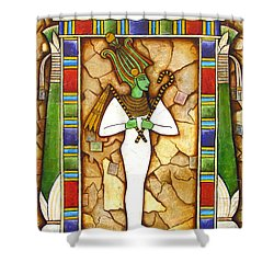 Shower Curtain featuring the painting Osiris by Joseph Sonday