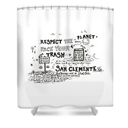 Pack Your Trash Shower Curtain