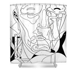 Paint By Number Las Vegas Shower Curtain