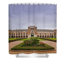 Panorama Of Rice University Academic Quad - Houston Texas Shower Curtain