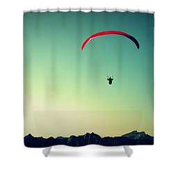 Paraglider Shower Curtain