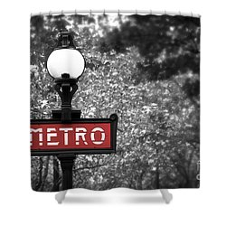 Paris Metro Shower Curtain