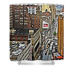 Shower Curtain featuring the photograph Park N Lock by Lilliana Mendez
