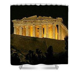Parthenon Shower Curtain by Ellen Henneke