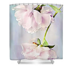 Pastel Peonies Shower Curtain