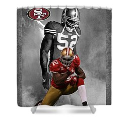 Patrick Willis 49ers Shower Curtain