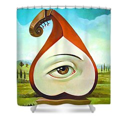 Musical Pear Shower Curtain
