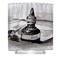 Pen And Ink Shower Curtain