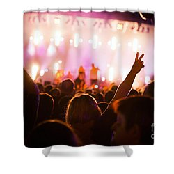 People On Music Concert Shower Curtain by Michal Bednarek