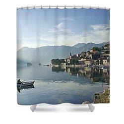 Perast Village In Montenegro Shower Curtain