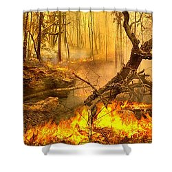 2 Peter 3 10 Shower Curtain by Bill Stephens