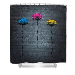 Shower Curtain featuring the painting Petite Pretties by Oddball Art Co by Lizzy Love
