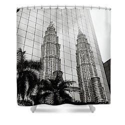 Petronas Towers Reflection Shower Curtain