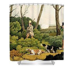 Pheasant Shooting Shower Curtain