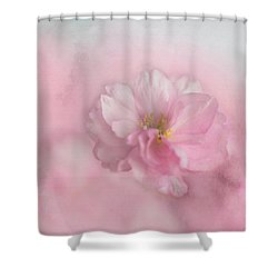 Shower Curtain featuring the photograph Pink Blossom by Annie Snel