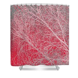 Pink  Shower Curtain by Carol Lynch