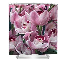 Shower Curtain featuring the photograph Pink Orchids by Debbie Hart